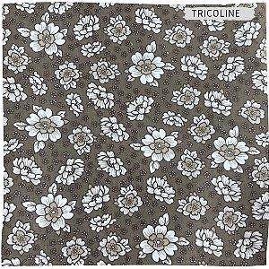 Tricoline Flores Diversos Fundo Escuro 50cmX1,40m