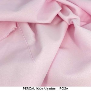 Percal Rosa bb 100% Algodão 50cm X 2,50m de largura