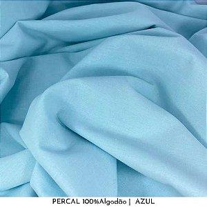 Percal Azul bb 100% Algodão 50cm X 2,50m de largura
