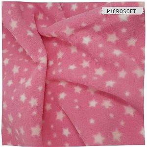 Microsoft Estrelas fundo Rosa Chiclete 50cmX1.60m