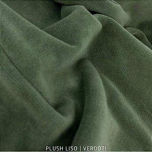 Plush Liso Verde Musgo Verdot 50cm x 1,70m
