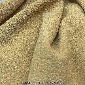 Buckle Plush Caramelo tecido Flanelado e Felpudo por Fora 50cmx1,50m