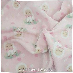 Plush Ovelhas fundo rosa 50x1,70m