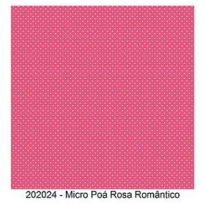 Tricoline Micro Poá Rosa Romântico 50cm x 1.50m largura
