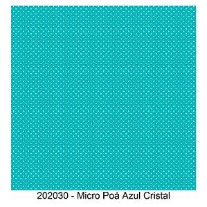 Tricoline Micro Poá Azul 50cm x 1.50m largura