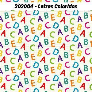Tricoline Letras Coloridas 50cm x 1.50m largura