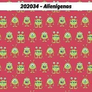 Tricoline Alienígenas 50cm x 1.50m largura