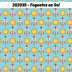 Tricoline Foguetes ao Sol 50cm x 1.50m largura