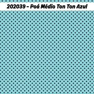 Tricoline Poá Médio tonton Azul 50cm x 1.50m largura