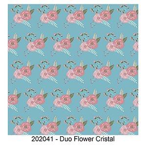 Tricoline Duo Flower Cristal 50cm x 1.50m largura