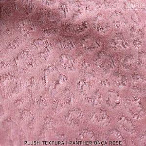 Plush Textura Panther Oncinha Magnolia tecido Desenhos em Relevo 50cmx1,70m