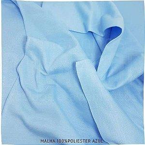 Malha 100% Poliéster Azul 50cmx2,40m (tubular)