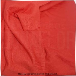 Malha 100% Poliéster Vermelho 50cm x 2,40m (tubular)