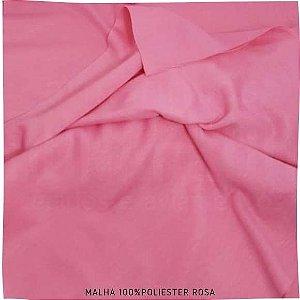 Malha 100% Poliéster Rosa  50cm x 2,40m (tubular)