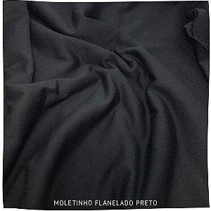 Moletinho Flanelado Preto 50cm x 1.70m