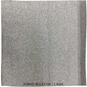 Punho Ribana Moletom Cinza Mescla 30cm x 45cm (tubular)