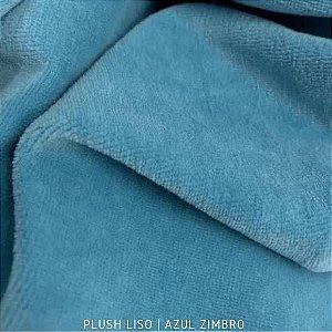 Plush Liso Azul Zimbro 50cmx1,70m