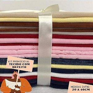 Kit06 Tecidos Plush com Defeito 20 a 40cm