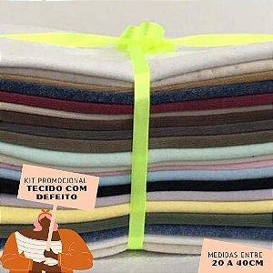 Kit11 Tecidos Plush com Defeito 20 a 40cm