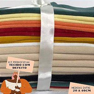 Kit17 Tecidos Plush com Defeito 20 a 40cm