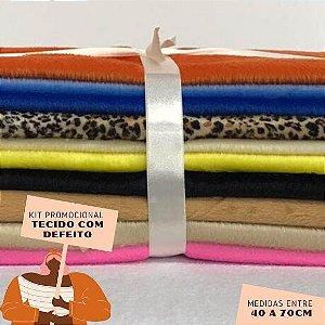 Kit02 Tecidos Velboa com Defeito 40 a 70cm