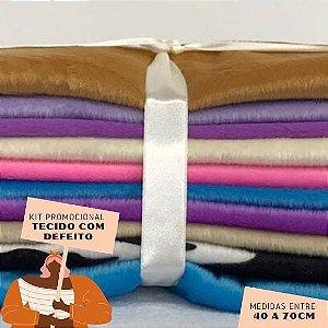 Kit03 Tecidos Velboa com Defeito 40 a 70cm