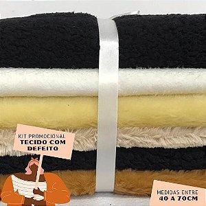 Kit14 Tecidos Pelúcia com Defeito 40 a 70cm