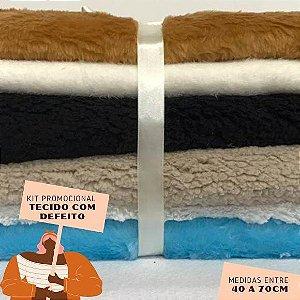 Kit16 Tecidos Pelúcia com Defeito 40 a 70cm