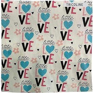 Tricoline Love 50cm x 1.50m largura