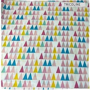 Tricoline Triângulos Coloridos  50cm x 1.50m largura