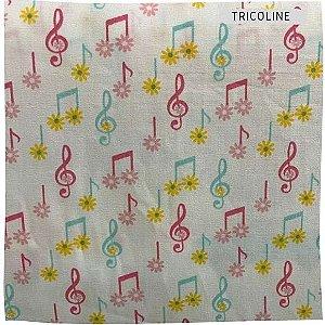 Tricoline Notas Musicais  50cm x 1.50m largura