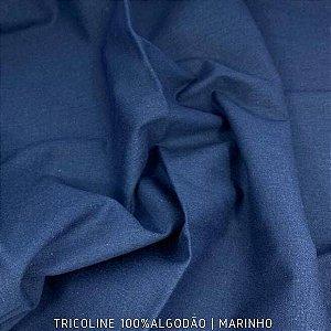 Tricoline Liso 100% Algodão Marinho 50cm x 1.50m