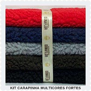 Kit  Carapinha Multicores Forte  5Tecidos 30x70cm
