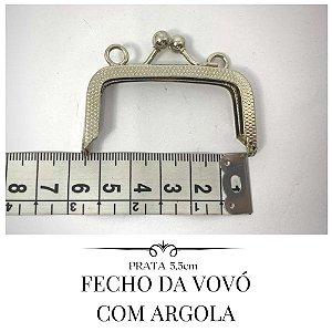 Fecho da Vovó Prata Com Argola  5,5cm