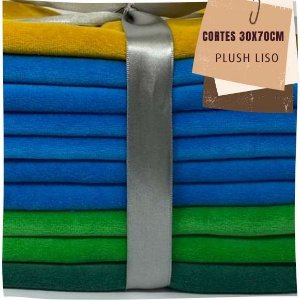 Kit03 10Plush Liso Sem Defeitos 30x70cm