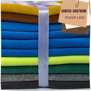 Kit05 10Plush Liso Sem Defeitos 30x70cm