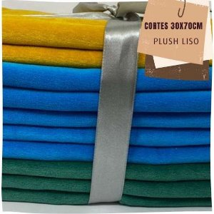 Kit06 10Plush Liso Sem Defeitos 30x70cm
