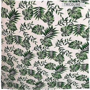 Tricoline Folhas 50cm x 1.50m largura