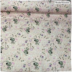 Tricoline Pet Fundo Rosa 50cm x 1.50m largura
