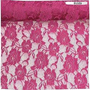 Renda com Elastano Pink 50cm x 1,50m