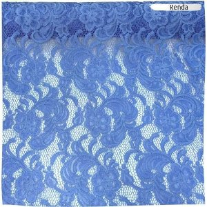 Renda Azul Médio 50cm x 1,40m