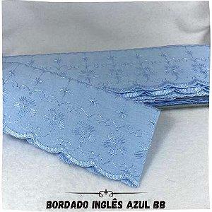Bordado Inglês Azul 7,5cm Largura