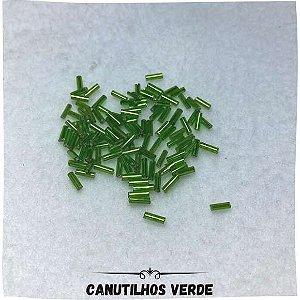 Canutilhos Cristal Com Furo Verde 0,7mm