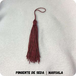 Pingente de Seda | Marsala 8cm