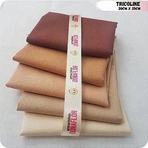 Kit Tricoline Tons Bege 5Tecidos 20cm x 35cm