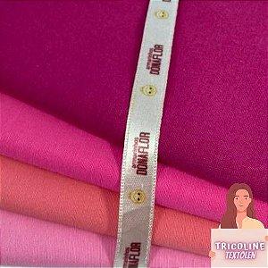 N08Kit Tricoline Misto Tons de Pink (4tecidos) 50cm x70cm