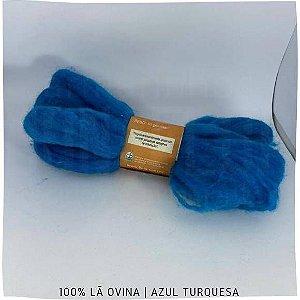 Lã crua penteada Fiolã Azul 50gr