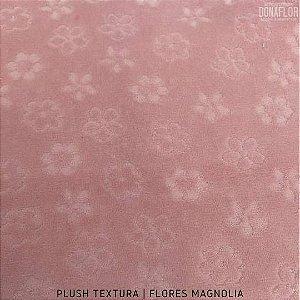 Plush Textura Flores Magnolia tecido Desenhos em Relevo 50cmx1,70m