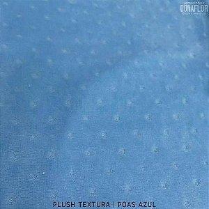 Plush Textura Poás Azul Bebê tecido Desenhos em Relevo 50cmx1,70m