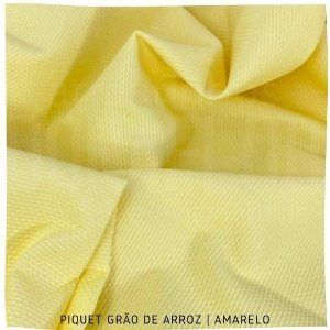 Piquet Grão de Arroz Amarelo 50cmx1,45m
